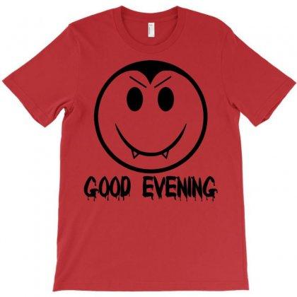 Good Evening Vampire Smiley T-shirt Designed By Sbm052017