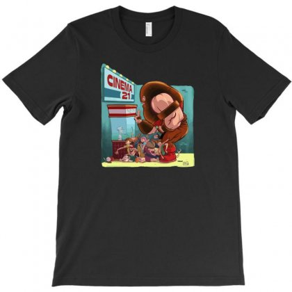 Movie Night T-shirt Designed By Mdk Art