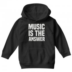 music is the answer Youth Hoodie | Artistshot