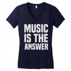 music is the answer Women's V-Neck T-Shirt | Artistshot