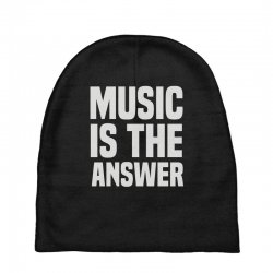 music is the answer Baby Beanies | Artistshot