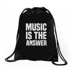 music is the answer Drawstring Bags | Artistshot