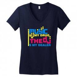 music is my drug Women's V-Neck T-Shirt | Artistshot