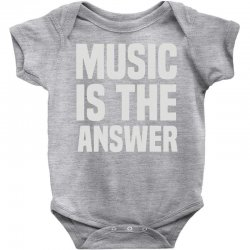 music is the answer Baby Bodysuit | Artistshot