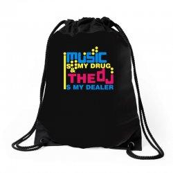 music is my drug Drawstring Bags | Artistshot