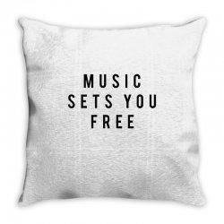 music sets you free Throw Pillow | Artistshot
