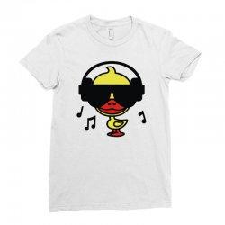 music duck Ladies Fitted T-Shirt | Artistshot