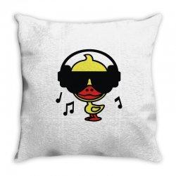 music duck Throw Pillow | Artistshot