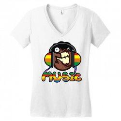 music Women's V-Neck T-Shirt | Artistshot