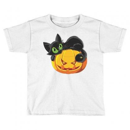 Halloween Pumpkin Cat Toddler T-shirt Designed By Sbm052017