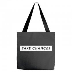 COLBY BROCK TAKE CHANCES Tote Bags | Artistshot