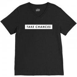COLBY BROCK TAKE CHANCES V-Neck Tee | Artistshot