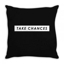COLBY BROCK TAKE CHANCES Throw Pillow | Artistshot
