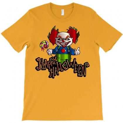 Halloween Clown T-shirt Designed By Defit