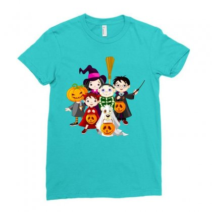 Halloween Ladies Fitted T-shirt Designed By Defit45