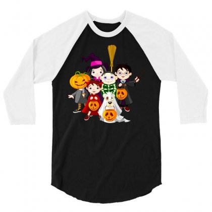 Halloween 3/4 Sleeve Shirt Designed By Defit45