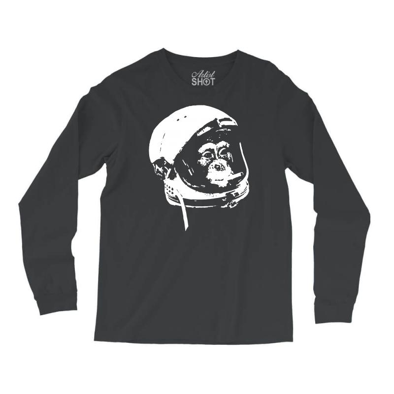 3521a847c Custom Astronaut Monkey Long Sleeve Shirts By Mdk Art - Artistshot