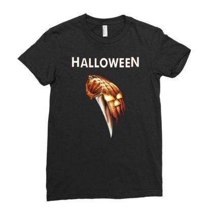 Halloween Classic Ladies Fitted T-shirt Designed By Mdk Art