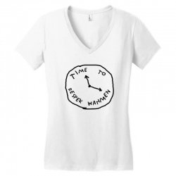 Time To Respek Wahmen Women's V-Neck T-Shirt | Artistshot