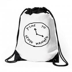Time To Respek Wahmen Drawstring Bags | Artistshot