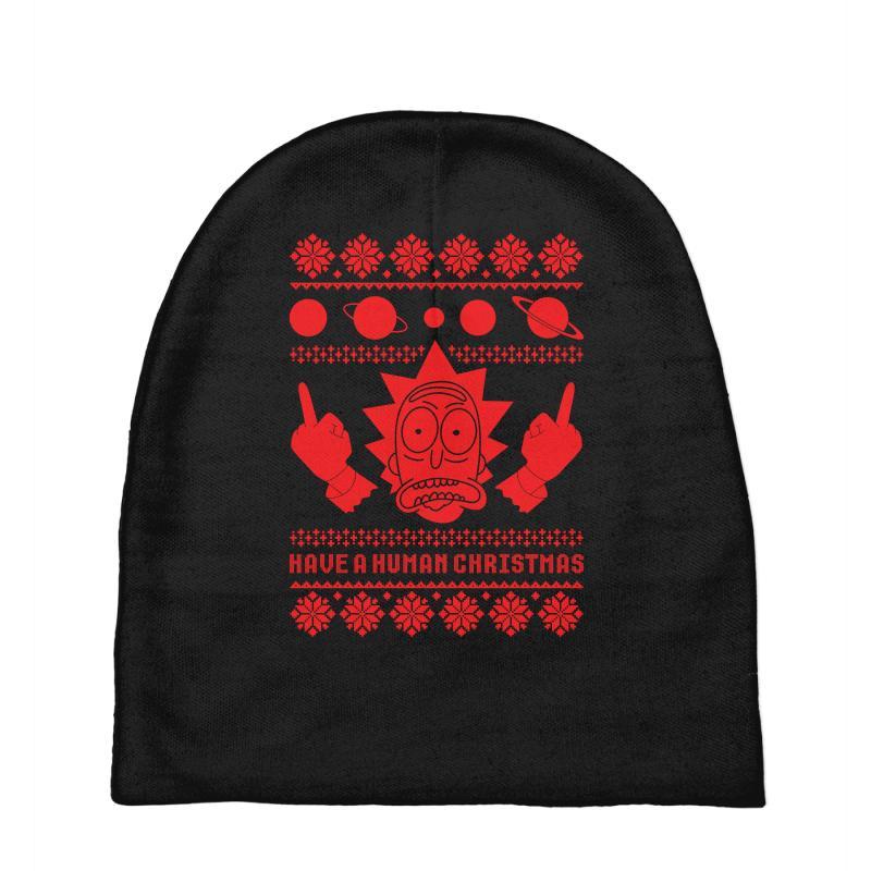 2d401bc98b57 Custom Rick Sanchez Ugly Christmas Sweater Baby Beanies By Tshiart ...