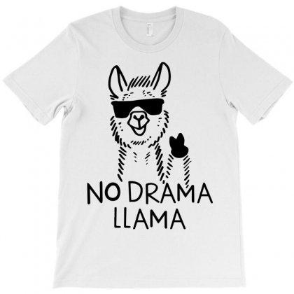 No Drama Llama T-shirt Designed By Rardesign