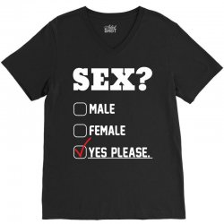 Sex Yes Please V-Neck Tee   Artistshot