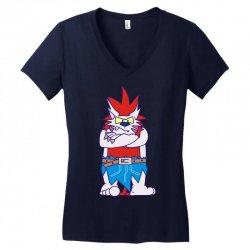 wild aztec monster Women's V-Neck T-Shirt   Artistshot