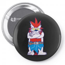 wild aztec monster Pin-back button   Artistshot