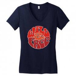wild and free Women's V-Neck T-Shirt | Artistshot
