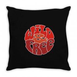 wild and free Throw Pillow | Artistshot