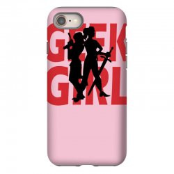 geek girl 3 4 sleeve baseball iPhone 8 Case | Artistshot