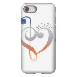 music expresses clef heart girls iPhone 8 Case | Artistshot