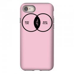 music elitism venn diagram musician indie snob rock geek shirt t shirt iPhone 8 Case | Artistshot