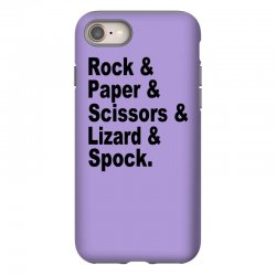 rock paper scissors lizard spock big bang theory geek nerd gift t shir iPhone 8 Case | Artistshot