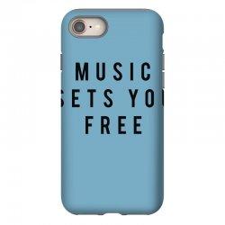 music sets you free iPhone 8 Case | Artistshot