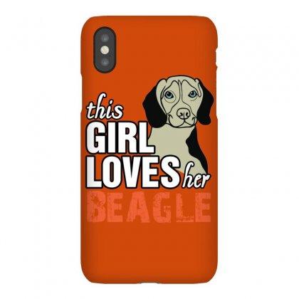 This Girl Loves Her Beagle Iphonex Case Designed By Killakam