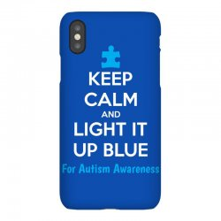 Keep Calm And Light It Up Blue For Autism Awareness iPhoneX Case | Artistshot