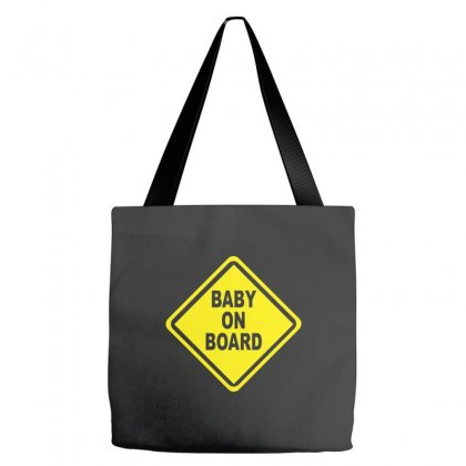 Baby On Board Bumper Sticker Decal Safety Cute Funny Tote Bags Designed By Cuser388