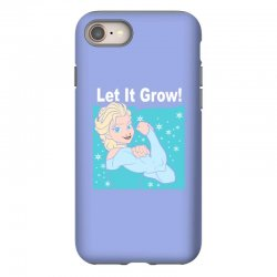 funny gym elsa let it grow frozen fitness iPhone 8 Case | Artistshot