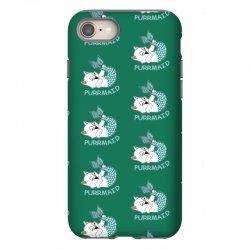 funny purr maid cat mermaid iPhone 8 Case | Artistshot