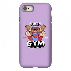 funny gym sloth the goonies fitness t shirt vectorized iPhone 8 Case | Artistshot