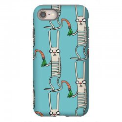 funny rabbit bunny holding a carrot iPhone 8 Case | Artistshot