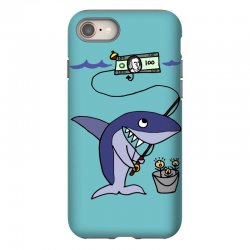 funny shark fishing for humans iPhone 8 Case | Artistshot
