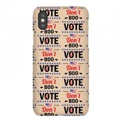 Dont Boo. Vote. iPhoneX Case   Artistshot