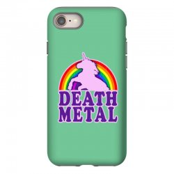 Funny Death Metal Unicorn Rainbow iPhone 8 Case | Artistshot
