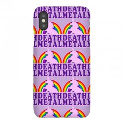 funny death metal unicorn rainbow iPhoneX Case | Artistshot