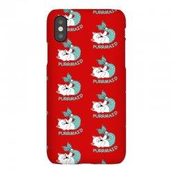 funny purr maid cat mermaid iPhoneX Case | Artistshot