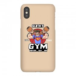 funny gym sloth the goonies fitness t shirt vectorized iPhoneX Case | Artistshot