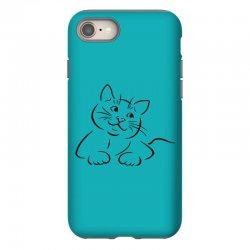 the cat simple iPhone 8 Case | Artistshot